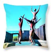 Dancing At Sea Ranch Throw Pillow