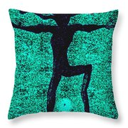 Dancing At The Creation Of The Green Earth Throw Pillow