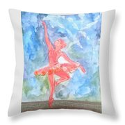 Dancing Ballerina Throw Pillow