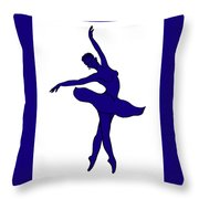 Dancing Ballerina Silhouette Throw Pillow