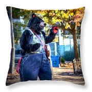 Banjo Beary In Pritchard Park Throw Pillow