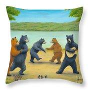 Dancing Bears Throw Pillow