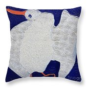 Dancing Bird Throw Pillow