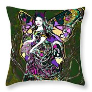Dancing Butterfly Throw Pillow