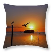 Dancing By Firelight Throw Pillow