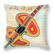 Dancing Cello Throw Pillow
