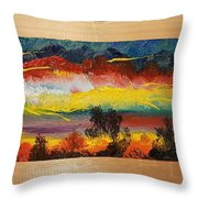 Dancing Colors     102 Throw Pillow