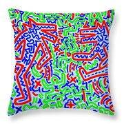 Dancing Dogs After Keith Haring 1958-90 Throw Pillow