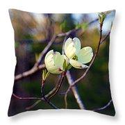 Dancing Dogwood Blooms Throw Pillow