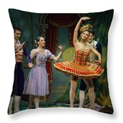 Dancing Doll Throw Pillow