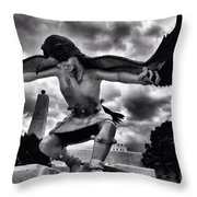 Dancing Eagle  Throw Pillow