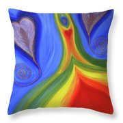 Dancing Earth Goddess Throw Pillow