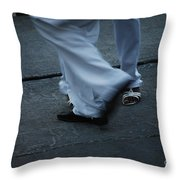 Dancing Feet At The Dominican Republic Son Party Number Three Throw Pillow