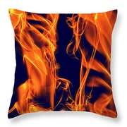Dancing Fire I Throw Pillow