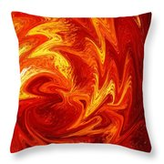 Dancing Flames Abstract  Throw Pillow