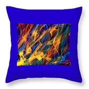 Dancing Flames Throw Pillow
