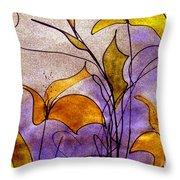 Dancing Flora Throw Pillow