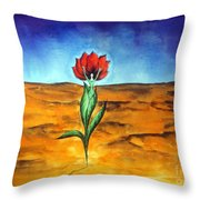 Dancing Flower-girl Throw Pillow