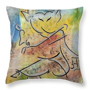 Dancing Ganesha Throw Pillow