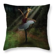 Dancing Giraffe Throw Pillow