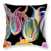 Dancing Glass Objects Throw Pillow