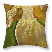 Dancing Her Prayers Throw Pillow by Shiloh Sophia McCloud