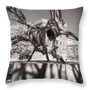 Dancing Horses Noir Throw Pillow