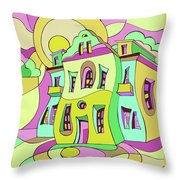 Dancing House Throw Pillow