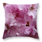 Dancing In A Springtime Shower Throw Pillow