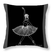 Dancing In The Dark Throw Pillow