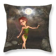 Dancing In The Moonlight Throw Pillow