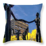 Dancing In The Park Throw Pillow