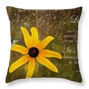 Dancing In The Rain Print Throw Pillow
