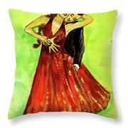 Dancing In The Showlights Throw Pillow