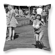 Dancing In The Street Throw Pillow