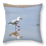 Dancing In Time With My Reflection Throw Pillow