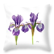Dancing Iris Throw Pillow