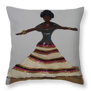 Dancing Lady Throw Pillow