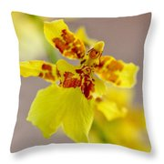 Dancing Lady Orchid Throw Pillow