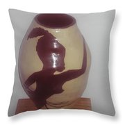 Dancing Lady With Figures - View One Throw Pillow
