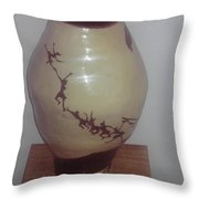 Dancing Lady With Figures- View Two Throw Pillow