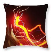 Dancing Light Streaks-1 Throw Pillow