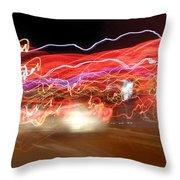 Dancing Light Streaks-2 Throw Pillow