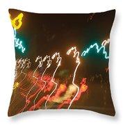 Dancing Light Streaks Throw Pillow