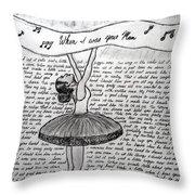 Dancing Lyrics Throw Pillow