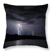 Dancing Man Lightning Throw Pillow