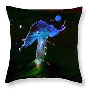 Dancing Mushroom Throw Pillow