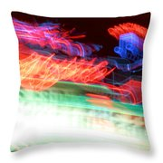 Dancing Neon Throw Pillow