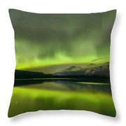 Dancing Northern Lights Throw Pillow