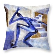 Dancing Off The Edge Of The World Throw Pillow